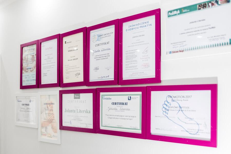 certyfikaty podolog gdynia